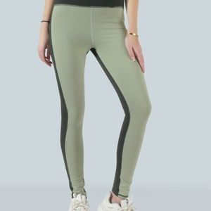 HIGH-WAISTED COLOR-BLOCK LEGGINGS